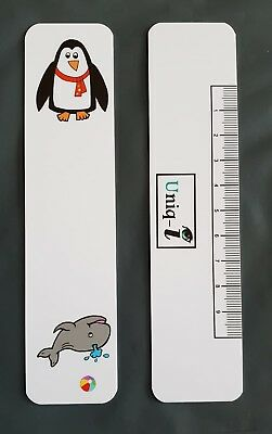 Large Fixation Stick - Optometry/Orthoptics - Whale/Penguin Design with PD Ruler