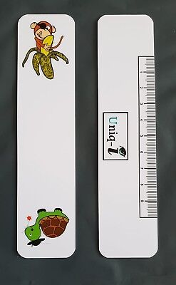 Large Fixation Stick - Optometry/Orthoptics - Monkey/Turtle Design with PD Ruler