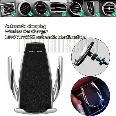 IR Smart Automatic Clamping Car Wireless Charger Qi TYPE-C For Samsung HUAWEI