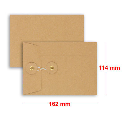 Brown String & Washer Bottom-Tie Envelopes Manilla C6 Size Cheap & Fast Delivery