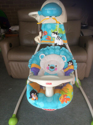 Baby Fisher-Price Precious Planet Open Top Cradle and Swing Rocker