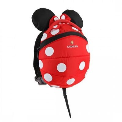 LittleLife Toddler Daysack Disneys Minnie Mouse with Rein Child Backpack