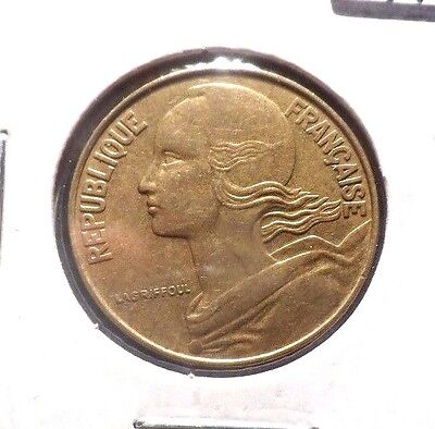 Circulated 1976 20 Centimes French Coin  (112215)