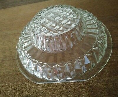 Vintage BOTTOM GLASS ACCESS COVER  for ceiling light ART DECO GLASS LIGHT SHADE