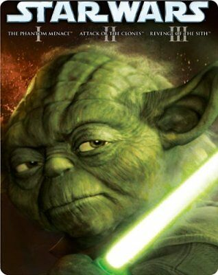Star Wars The Prequel Trilogy (Episodes I-III) Limited Edition Steelbook Blu-ray