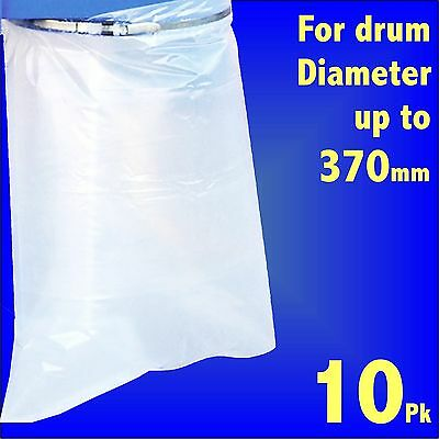 10x Dust Extractor Polythene Collection Bags 24 x 36 Charnwood Fox Scheppach SIP