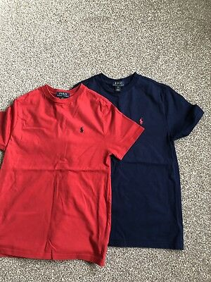 Two Boys Polo Ralph Lauren T Shirts M Age 10-12