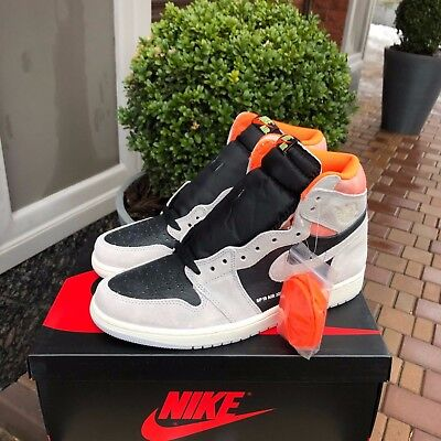 bc5b271f1a4 NIKE AIR JORDAN 1 Retro High OG NEUTRAL GREY HYPER CRIMSON Black Mens 555088 -018 -  136.38