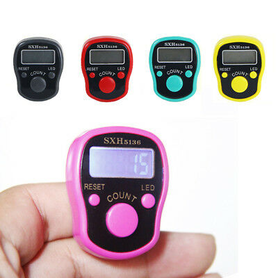 LED Display Luminous Finger Ring Hand Tally Digital Counter Timer Light Weight