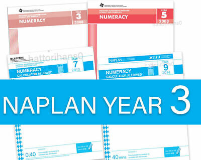 Year 3- 2008 to 2016 NAPLAN Past Papers (2017 and 2018 Answers only included)