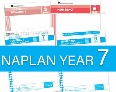 Year 7- 2008 to 2016 NAPLAN Past Papers (2017 and 2018 Answers only included)