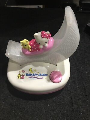 Vintage 1996 Hello Kitty Babies Moonlight Serenade Sanrio Music Box Light