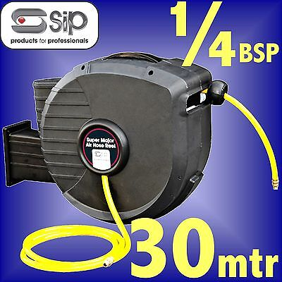 SIP 07976 Pro 30 Metre Retractable Air Hose Reel airline compressor tool line