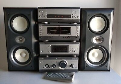 SONY MHC-S3 AV Hi-Fi COMPONENT STEREO SYSTEM WITH REMOTE CONTROL AND SPEAKERS