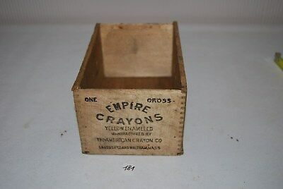 C181 Ancienne caisse bois - magasin - EMPIRE CRAYONS the american crayon rare
