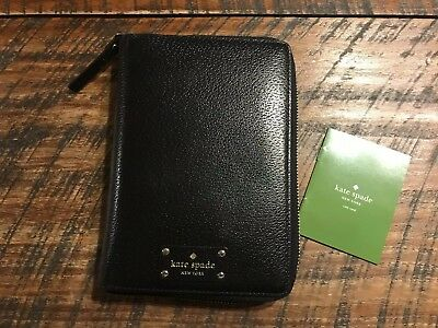 New Kate Spade New York Black Leather Agenda Planner, Needs 2019 Calendar