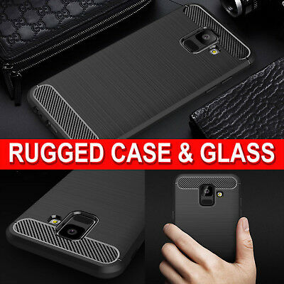 Case for Samsung Galaxy A6 J6 A8 Shockproof 360 RUGGED Armour & Screen Protector