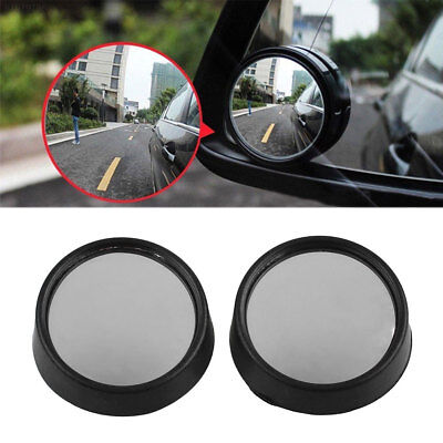 295B 2Pcs Car Vehicle Side Small Round Convex Blind Spot Dead Zone Rearview