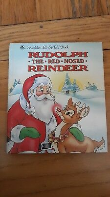 Rudolf The Red Nosed Reindeer Book.  A Golden Tell A Tale Book