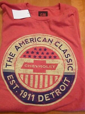 398de2ed9e8 NWT Official General Motors GM Chevrolet Chevy Men s XL T-shirt 1911  Amer.Class