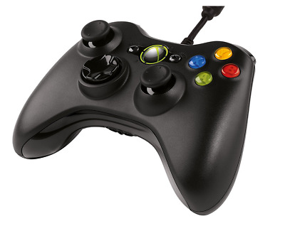 Official Elgetec Xbox 360 Wired Black Original Genuine Controller Game Pad