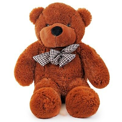 30'' Large Brown Plush Teddy Bear 80cm Valentine's Day Girlfriend His Her Gift