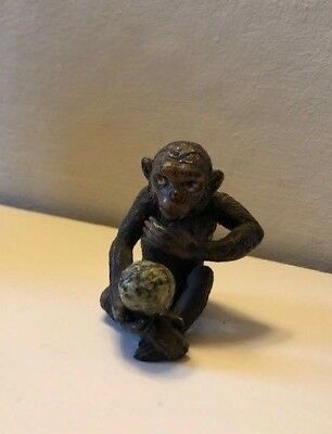 Antique Austrian Cold Painted Bronze Darwins Monkey Good Original Condition