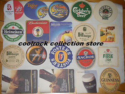 Lot of 19 different worldwide beer coasters