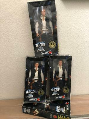 """12"""" Han Solo Star Wars Collector Series Kenner Figure 1996 - New Sealed in box -"""