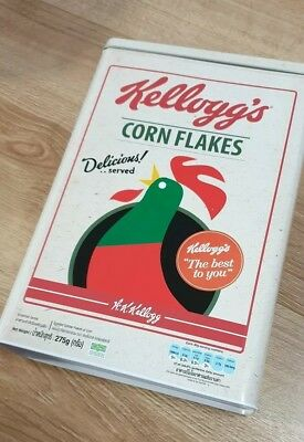 Vintage Kellogg's Cereal Collectable Tin 29.5 x 20 x 7cm