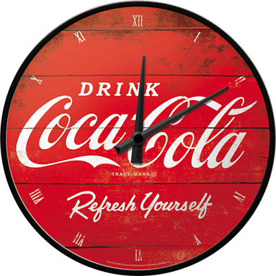 Orologio da muro Vintage Coca-Cola - Logo Red Refresh Yourself