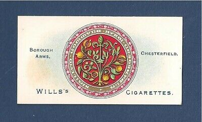 CHESTERFIELD Coat of Arms Spireites Pomegranate 1905 original print card