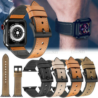 Silicone Leather Strap for iWatch 4 3 21 Apple Watch Band Bracelet 38/42/40/44MM