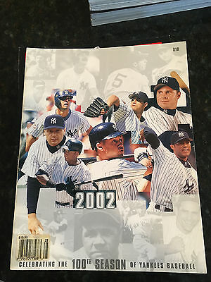 New York Yankees 2002 Team Yearbook Celebrating 100 Years Of Yankee Baseball