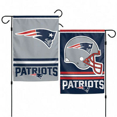 12x18 New England Patriots 2 Sided Double Sided Garden Flag Banner FAST SHIP