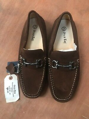 Mens Orca Bay Roma Suede Loafer Brown Size 42
