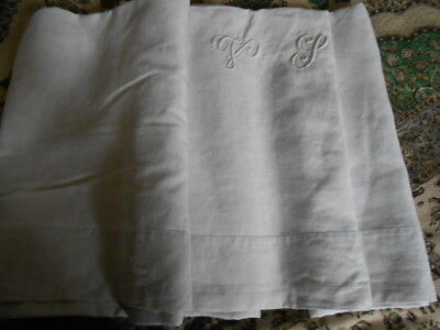 ANCIEN DRAP EN FIL DE LIN - antique's linen sheet