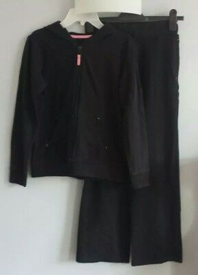 Girls George @ Asda Black Tracksuit Joggers Outfit Age 10-11 Years