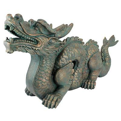 """29"""" Asian Symbol Prosperity Oriental Chinese Dragn Sculptural Home Gallery Decor"""