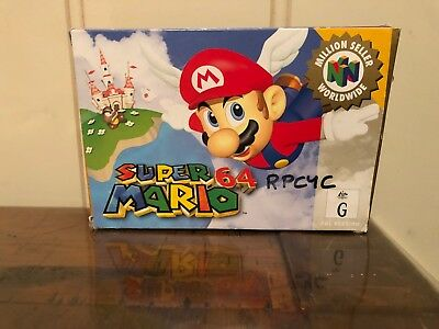 Super Mario 64 Boxed Nintendo 64 Game! GC Complete ! N64 OZ SELLER FAST POST!