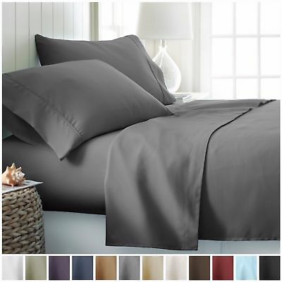 Full Fitted Flat Bed Sheets Pillow Cases Single Double Queen Super King Size