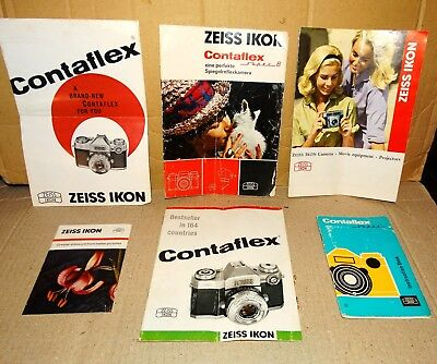 Zeiss Ikon Brochures and Instruction Book (Vintage)