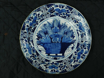 Early 18th Century Dutch Delft Charger
