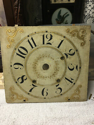Antique Wooden Works with Alarm Feature Clock Dial