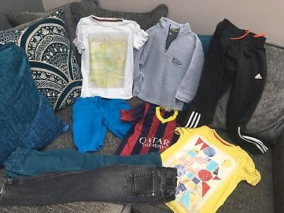 Bundle Of Boys Clothes, 7 Years, Adidas, M&S, Weird Fish Etc, 8 Items