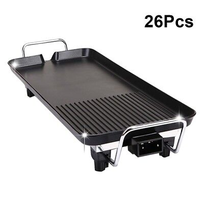 26/Set Electric Smokeless Table Barbecue Grill 1400W Griddle Hot PLate Cookware