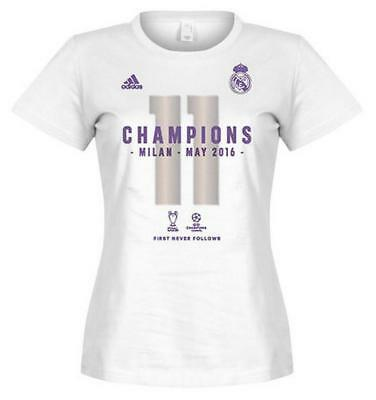 e5701451 adidas Real Madrid Official 2016 Champions League Winners Womens T-shirt -  White