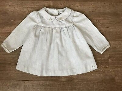 Marie Chantal For M&S Baby Girl Grey Tunic Top 3-6 Months