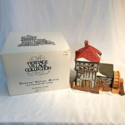 Dept. 56 Heritage Village Dickens Blythe Pond Mill House in Box