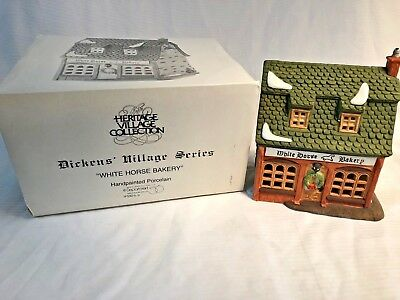"Department 56 Heritage - Dickens Village Series ""White Horse Bakery"" 1988 5926-9"